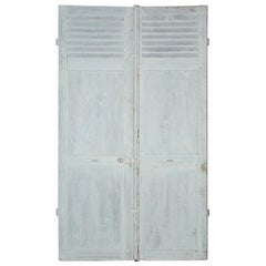 Pair of Antique French Shutters