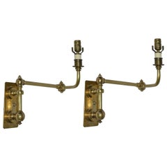 Pair of Antique French Swing Arm Wall Lamp