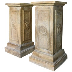Pair of Antique French Terracotta Pedestals