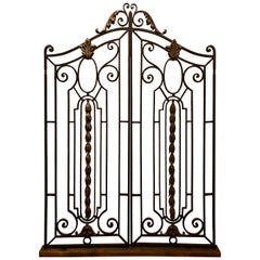 Pair of Antique French Wrought Iron Gates, circa 1880