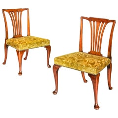 Pair of Antique Georgian Cabriole Leg Chairs Attributed to Giles Grendey