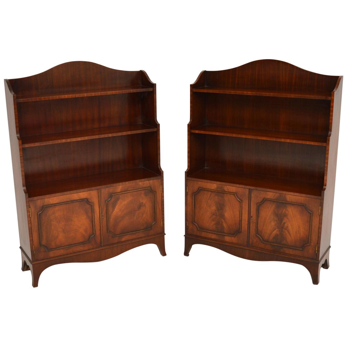 Pair of Antique Georgian Mahogany Bookcases