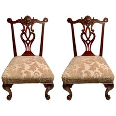 Pair of Antique Georgian Sidechairs, circa 1830