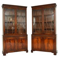 Pair of Antique Georgian Style Bookcases