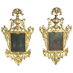 Pair of Antique Girandole Mirrors