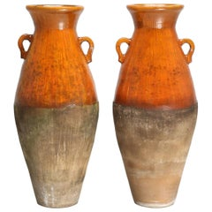 Pair of Antique Greek Olive Oil or Wine Amphora's