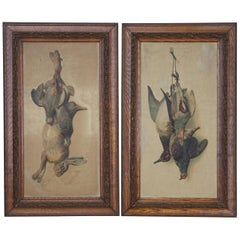 Pair of Antique Hunting Prints of Game