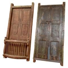 Pair of Antique Indian Balcony Doors, 20th Century