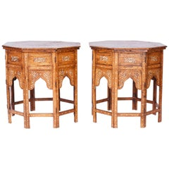 Pair of Antique Inlaid Tables or Stands