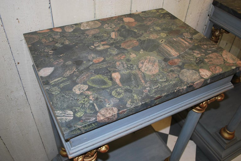 Pair of Antique Italian 19th century painted  Console /pier tables / hall tables For Sale 1
