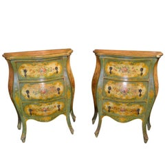 Pair of Antique Italian Painted Chests