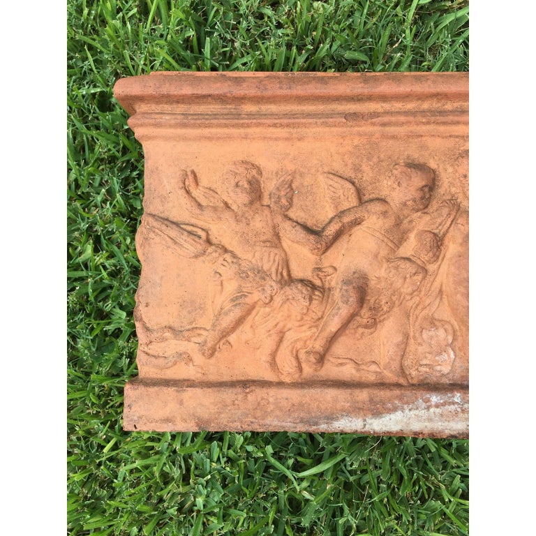 Pair of Antique Italian Terracotta Planters In Good Condition For Sale In Houston, TX