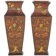 Pair of Antique Kashmiri Vases