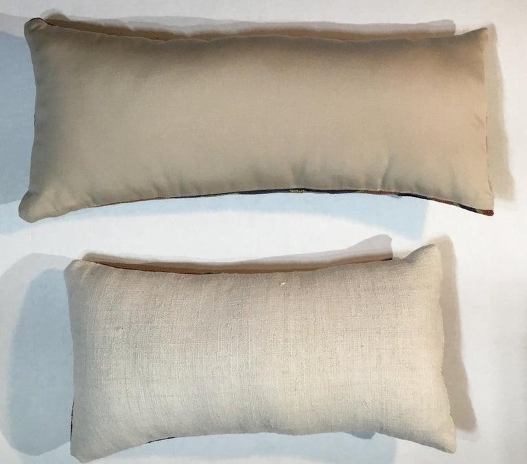 Pair of Antique Kazak Pillows For Sale 6