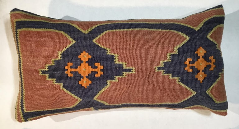 Pair of Antique Kazak Pillows In Good Condition For Sale In Delray Beach, FL