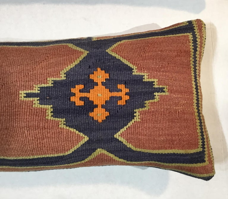 Early 20th Century Pair of Antique Kazak Pillows For Sale