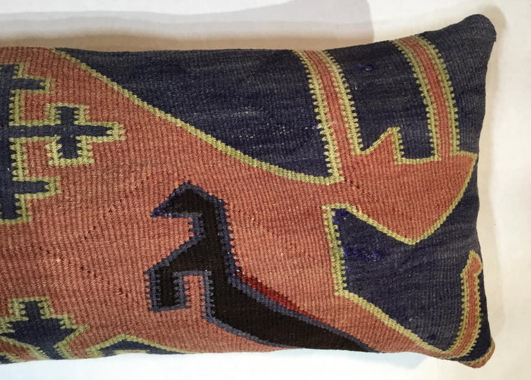 Pair of Antique Kazak Pillows For Sale 1