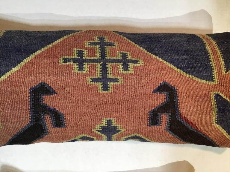 Pair of Antique Kazak Pillows For Sale 2