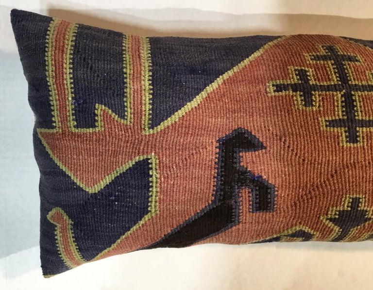 Pair of Antique Kazak Pillows For Sale 3