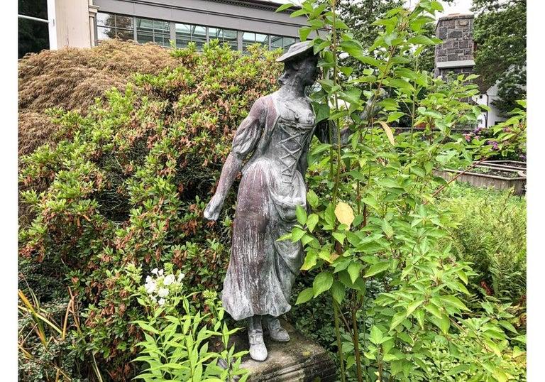 Pair of Antique Lead Garden Figures For Sale 14