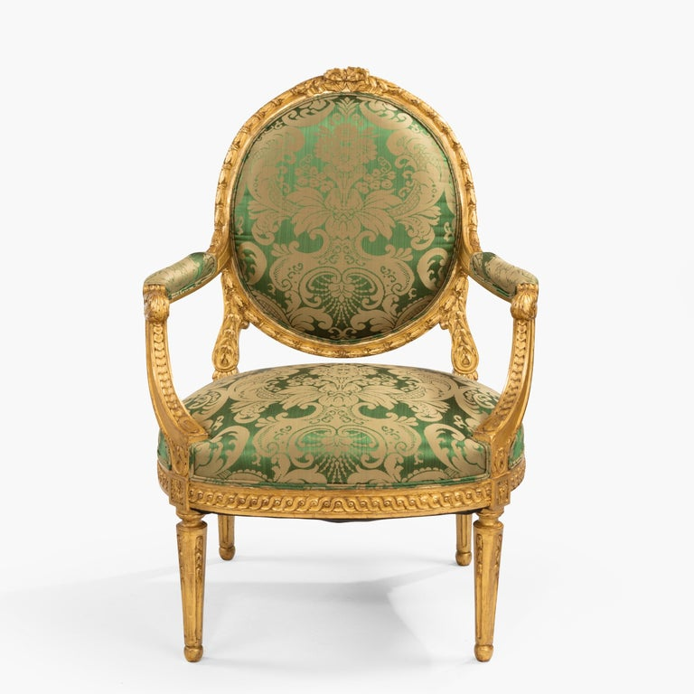 A Good Pair of Fauteuils en Cabriolet in the Louis XVI Manner