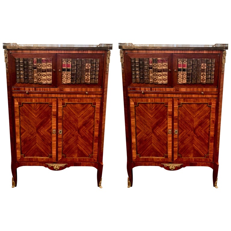 19th Century Pair of Antique Mahogany Library Book Cases, circa 1870-1890 For Sale