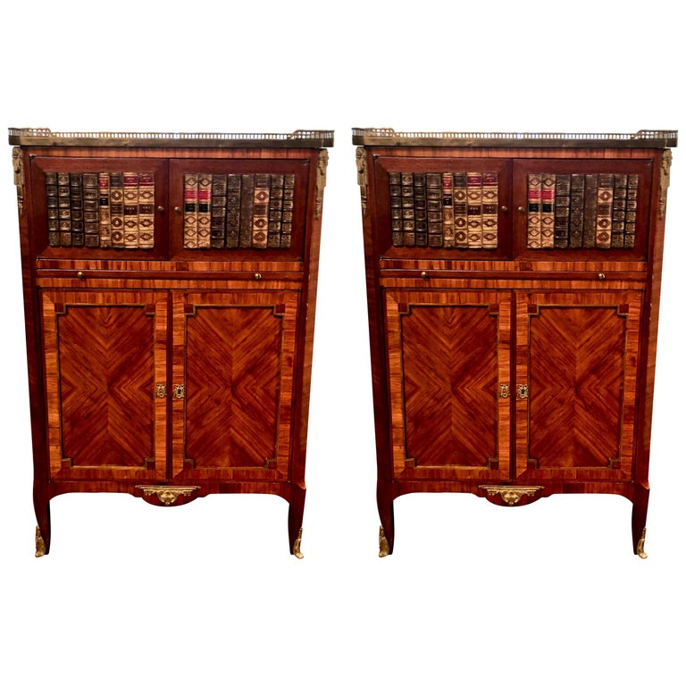 Pair of Antique Mahogany Library Book Cases, circa 1870-1890 For Sale