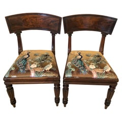 Pair of Antique Mahogany Regency Library Chairs