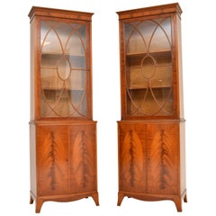 Pair of Antique Mahogany Waring and Gillows Bookcases