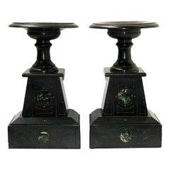 Pair of Antique Marble Garnitures