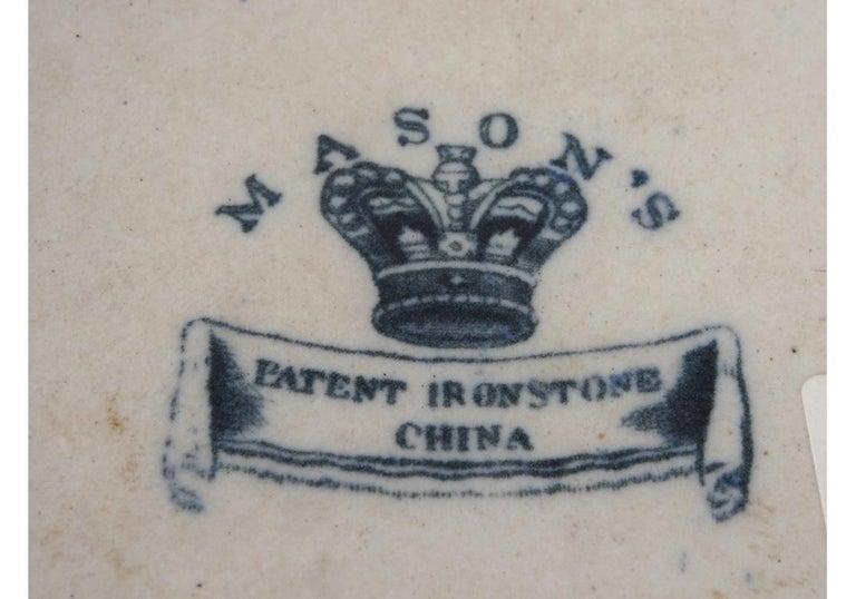 Pair of Antique Mason's Ironstone Pitchers 6