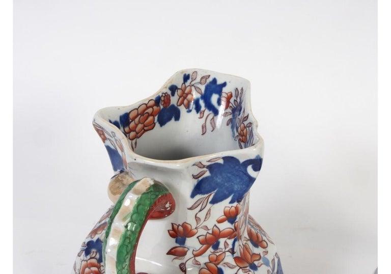 Ceramic Pair of Antique Mason's Ironstone Pitchers