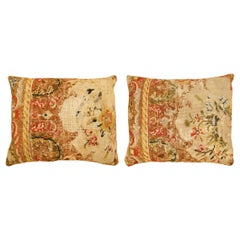 Pair of Antique Needlepoint Pillows
