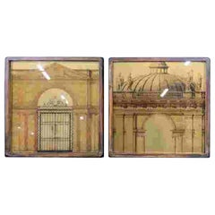 Pair of Antique Neoclassical Architectural Prints