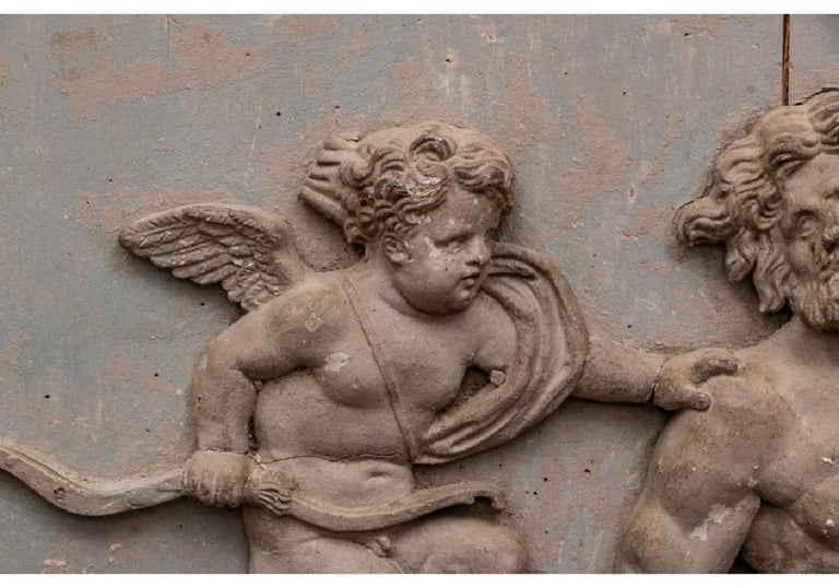 Pair of Antique Neoclassical Carved Plaques For Sale 3