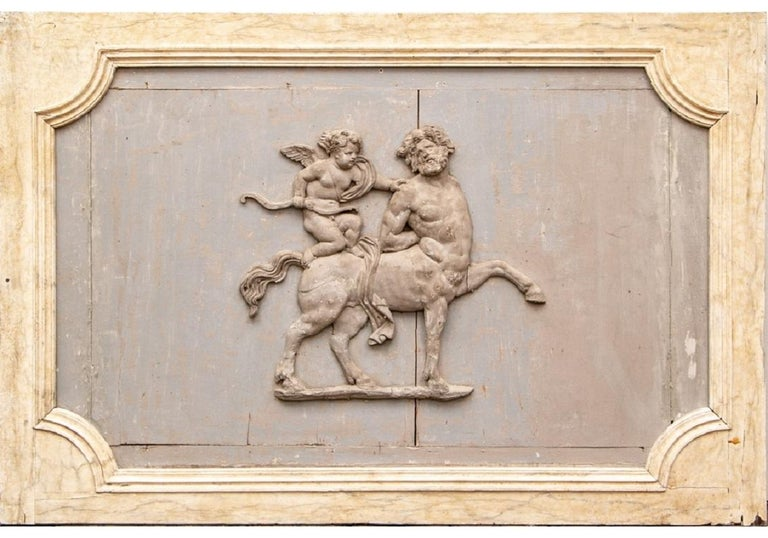 Pair of Antique Neoclassical Carved Plaques For Sale 4