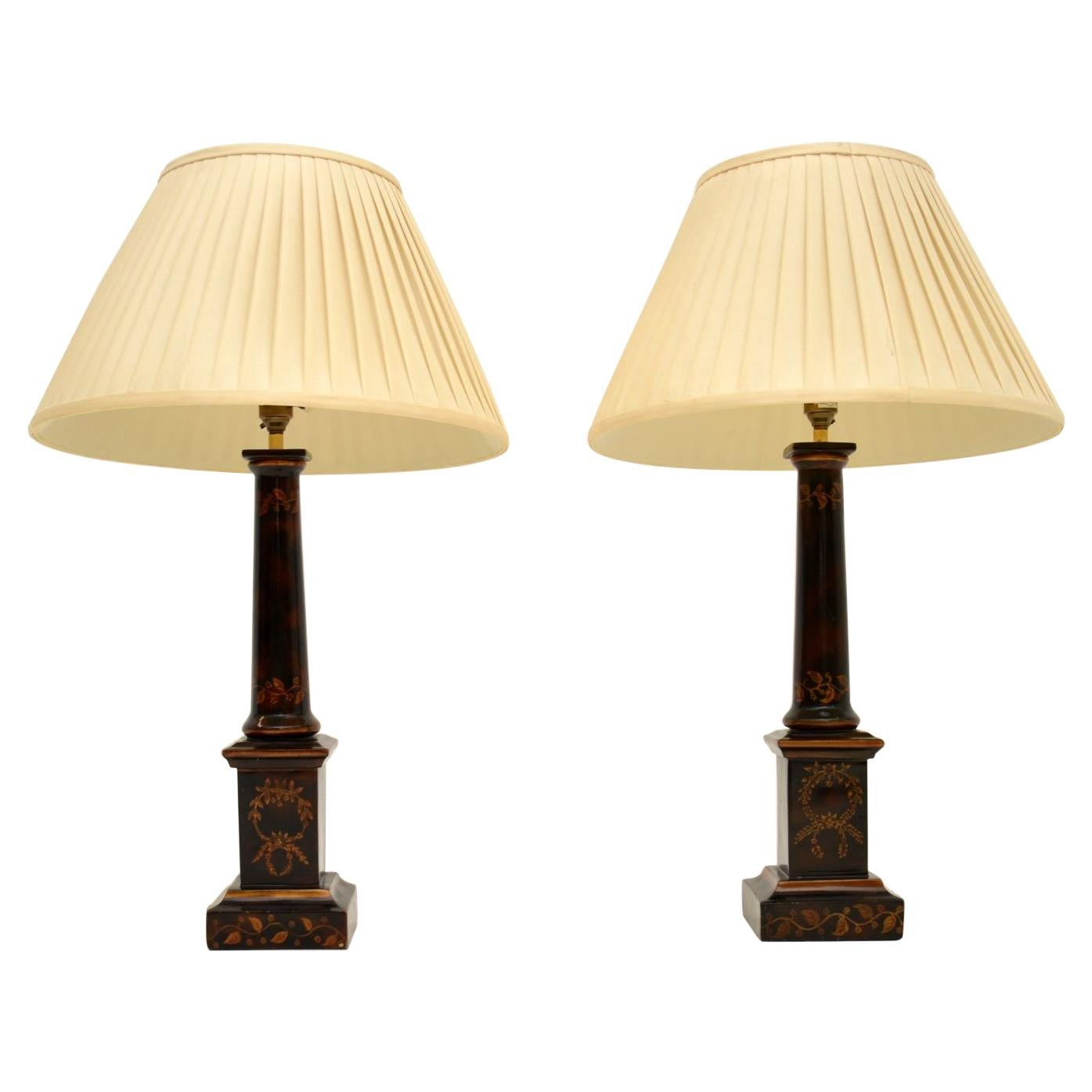 Pair of Antique Neoclassical Style Table Lamps