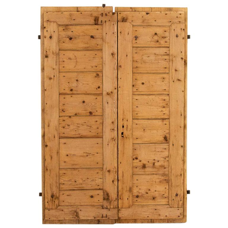 Pair of Antique Pine Barn Doors, Perfect For Sliding Doors