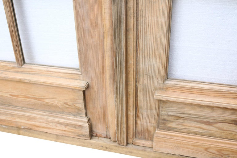 19th Century Pair of Antique Pine French Glazed Doors For Sale