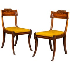Pair of Antique Regency Klismos Chairs in the Manner of Marsh and Tatham