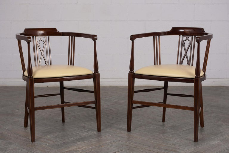 Pair of Antique Regency Style English Armchairs In Good Condition For Sale In Los Angeles, CA
