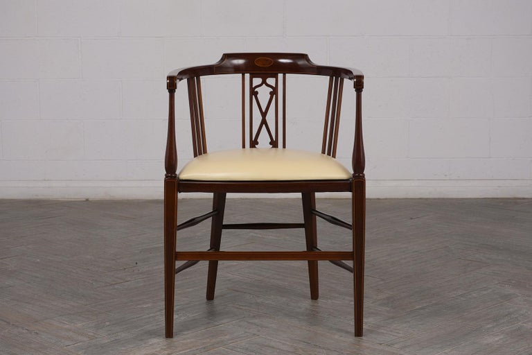 Early 20th Century Pair of Antique Regency Style English Armchairs For Sale