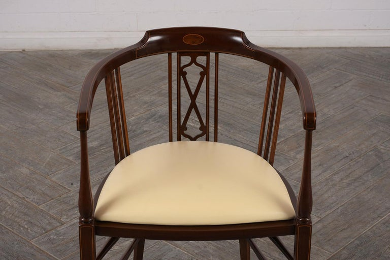 Pair of Antique Regency Style English Armchairs For Sale 3