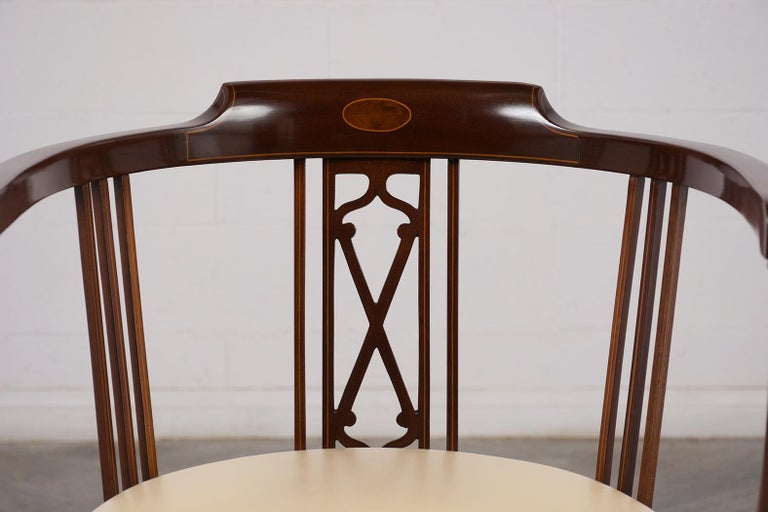 Pair of Antique Regency Style English Armchairs For Sale 4