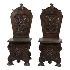 Pair of Antique Seats, Early 20th Century