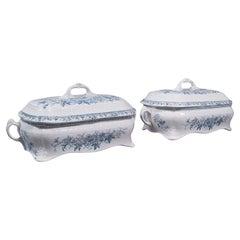 Pair of Antique Serving Tureens, English, Ceramic, Lidded Dish, Victorian, 1900
