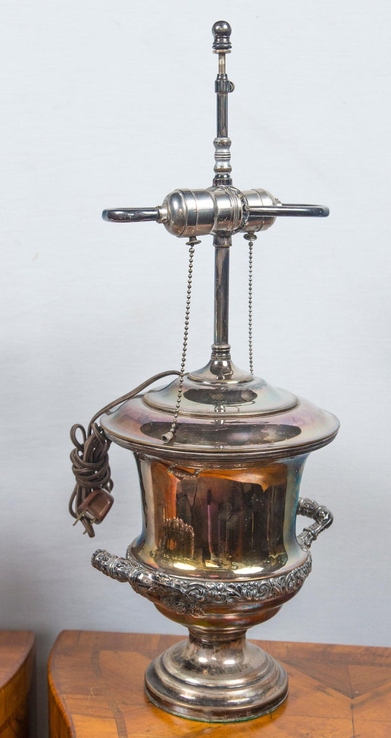 Pair of Antique Sheffield Wine Coolers For Sale 5