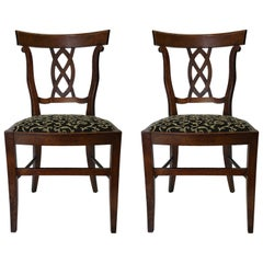 Pair of Antique Side Accent Chairs 19th Century