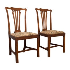 Pair of Antique Side Chairs, Mahogany, Hall, Dining Seat, Victorian, Circa 1900