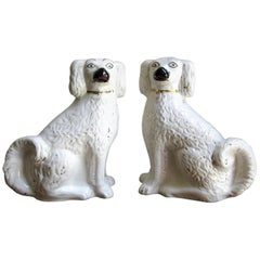 Pair of Antique Staffordshire Dogs, England